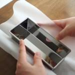 【パティシエ伝授♪】パウンド型に敷紙をしく方法。