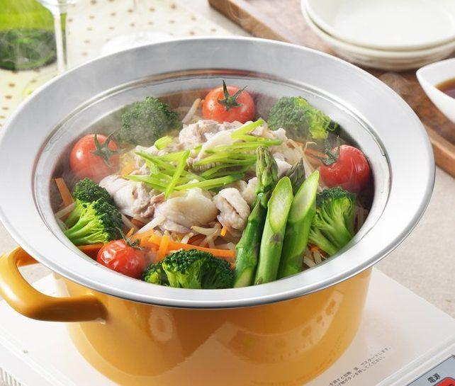 【おすすめ蒸し器♪】洗いやすくて、たっぷり蒸せる「お鍋にのせて簡単蒸しプレート」!