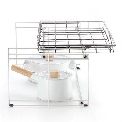 【キッチン収納】トトノ「引き出し用 収納ラック」でシンク下を有効活用♪